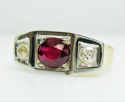 2015 AGL/Art Deco Ruby and Diamond Ring AGL54943