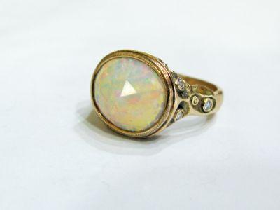 2015 AGL/Audrius Krulis Opal and Diamond Ring AGL50406 78832