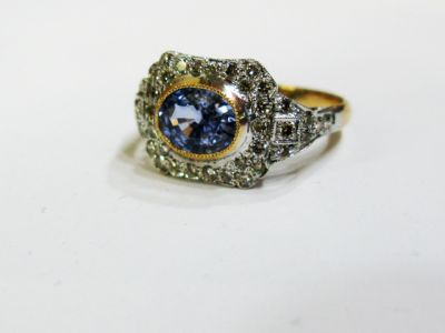 Edwardian Inspired Sapphire and Diamond Ring