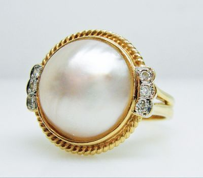 2015 AGL/Modern Pearl and Diamond Ring AGL54951 79602