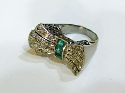 2015 AGL/Retro Emerald and Diamond Ring AGL54960 79599