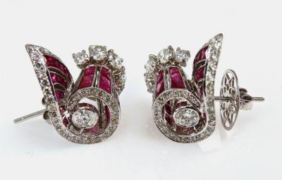 2015 AGL/Ruby and Diamond Estate Earrings CFA150314b 79192
