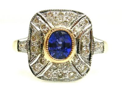 2015 AGL/Sapphire and Diamond Ring AGL48562 78575