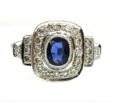 2015 AGL/Sapphire and Diamond Ring AGL48573 040 78586
