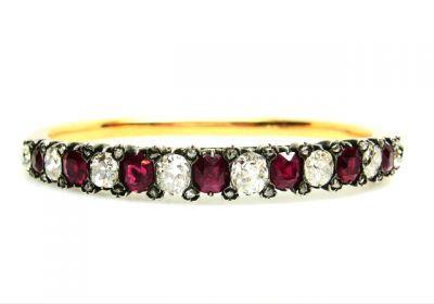 2015 AGL/Victorian Diamond and Ruby Bangle Bracelet AGL43915 74276