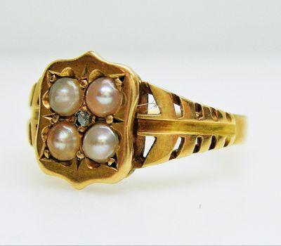 2015 AGL/Victorian Pearl and Diamond Ring AGL50082 78673