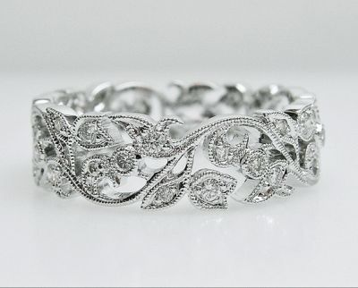 2015 AGL/Vintage Art Deco Inspired Diamond Eternity Band AGL54761 79568