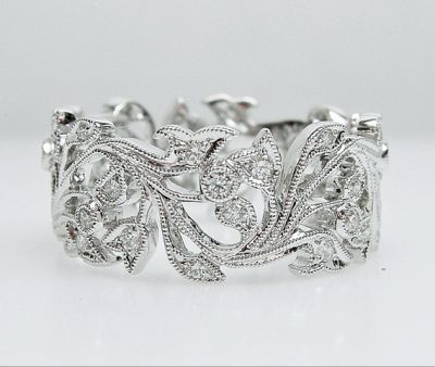 2015 AGL/Vintage Art Deco Inspired Diamond Eternity Band AGL54763 79570