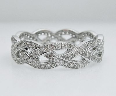 2015 AGL/Vintage Art Deco Inspired Diamond Eternity Band AGL54764 79571