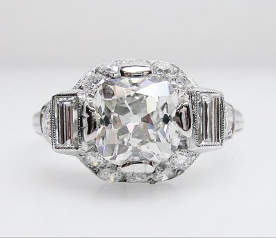 2015 AGL/Vintage Diamond Engagement Ring AGL54511 79472