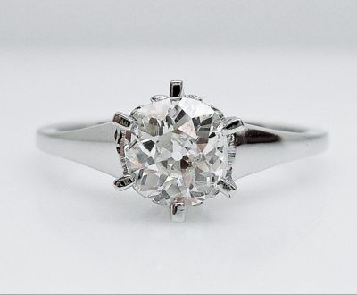 2015 AGL/Vintage Inspired Diamond Solitaire Engagement Ring AGL55424 79664