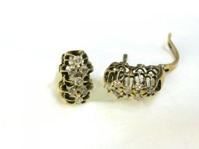 2015 ML Facets/2 Qtr/Antique Diamond Earrings CFA110423 65233