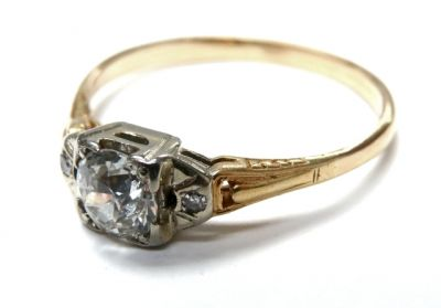 2015 ML Facets/2 Qtr/Art Deco Diamond Engagement Ring CFA150410 79423