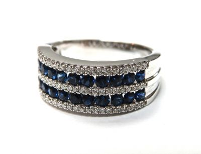 2015 ML Facets/2 Qtr/Art Deco Inspired Sapphire and Diamond RIng CFA1503163 79267