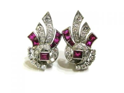 2015 ML Facets/2 Qtr/Art Deco Ruby and Diamond Earrings CFA1402146 74841 a