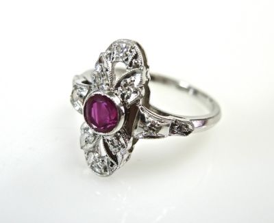Birks Ruby and Diamond Ring