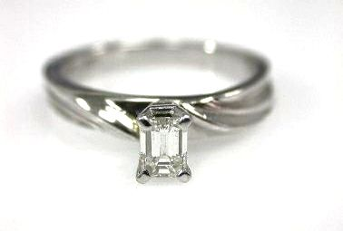 2015 ML Facets/2 Qtr/Diamond Emerald Cut Engagement Ring CFA100927 79273