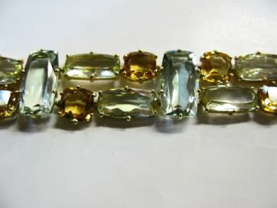 2015 ML Facets/2 Qtr/Modern Citrine and Prasiolite Bracelet CFA1403103 75137 b