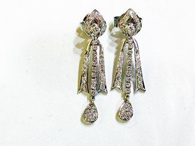Modern Diamond Drop Earrings
