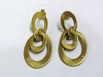 2015 ML Facets/2 Qtr/Modern Diamond Gold Hoop Earrings CFA1311438 74033a