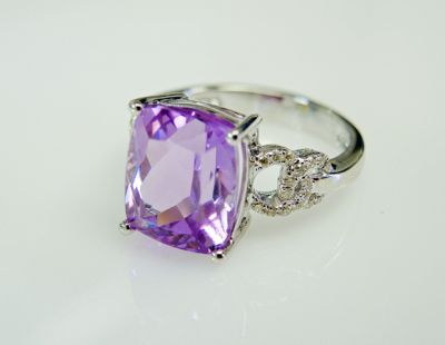 2015 ML Facets/2 Qtr/Modern Kunzite and Diamond Ring CFA1505173 79431b