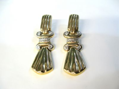 2015 ML Facets/2 Qtr/Retro Diamond Earrings CFA1104124 65333 a