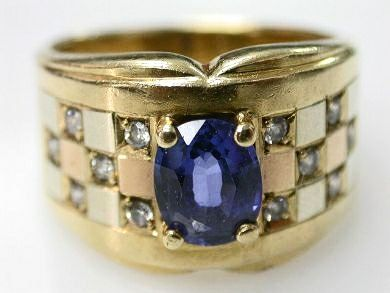 2015 ML Facets/2 Qtr/Sapphire and Cubic Zirconia Vintage Ring CFA1008144 79275