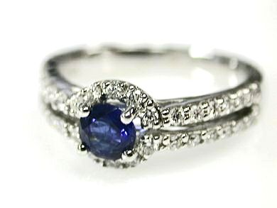 2015 ML Facets/2 Qtr/Sapphire and Diamond Engagement Ring CFA110644 79268