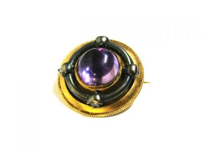 2015 ML Facets/2 Qtr/Victorian Amethyst Target Brooch CFA1411114 78797