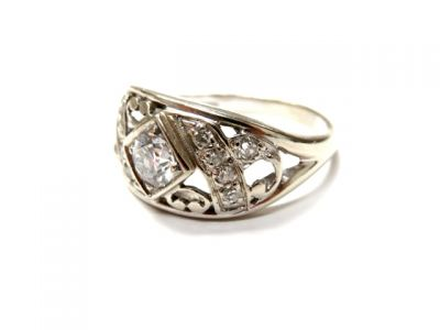 2015 ML Facets/2 Qtr/Vintage Art Deco Diamond Ring CFA150384 79286