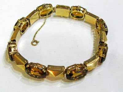 2015 ML Facets/2 Qtr/Vintage Citrine Bracelet CFA1312119 74126b