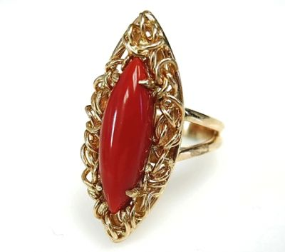 2015 ML Facets/2 Qtr/Vintage Coral Ring CFA1502129 79142