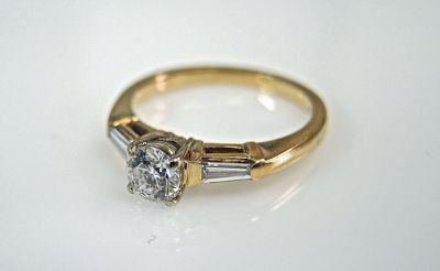 2015 ML Facets/2 Qtr/Vintage Diamond Engagement RIng CFA1504147 79370