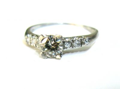 2015 ML Facets/2 Qtr/Vintage Diamond Engagement Ring CFA1503147 79252