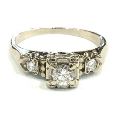 2015 ML Facets/2 Qtr/Vintage Diamond Engagement Ring CFA1504102 79303