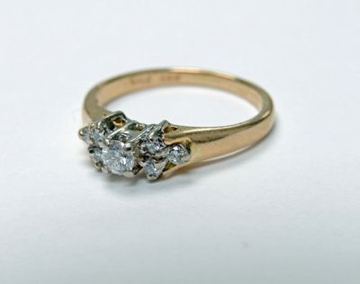2015 ML Facets/2 Qtr/Vintage Diamond Engagement Ring CFA1505222 79496