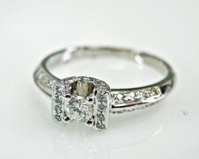 2015 ML Facets/2 Qtr/Vintage Diamond Engagement Ring CFA1505305 79457