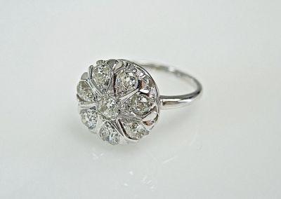 2015 ML Facets/2 Qtr/Vintage Diamond Ring CFA141064 78227B