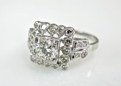 2015 ML Facets/2 Qtr/Vintage Diamond Ring CFA1505303 79455