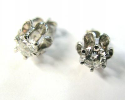 2015 ML Facets/2 Qtr/Vintage Diamond Stud Earrings CFA1311269 73982 a