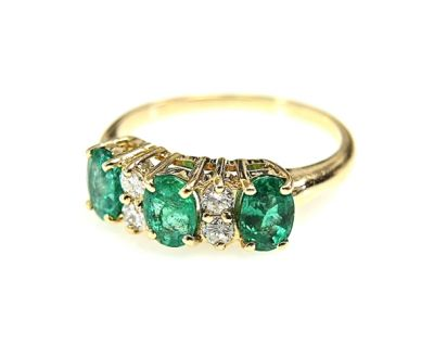 2015 ML Facets/2 Qtr/Vintage Emerald and Diamond RIng CFA1502132 79145