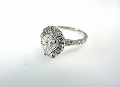 2015 ML Facets/2 Qtr/Vintage Inspired Pear Diamond Ring CFA1404113 75434