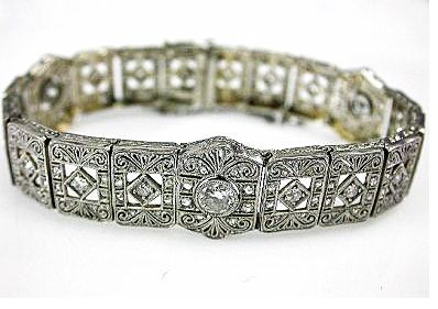 2015 ML Facets/3 Qtr/Art Deco Diamond Bracelet CFA150731 79716