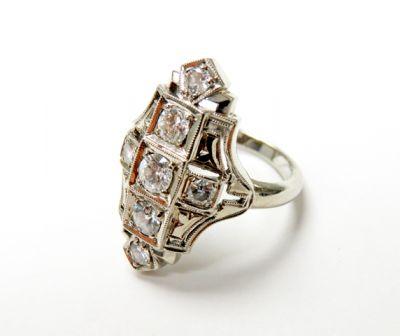 2015 ML Facets/3 Qtr/Art Deco Diamond Ring CFA150687 79648
