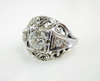 2015 ML Facets/3 Qtr/Art Deco Diamond Ring CFA1507321 79746