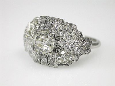 2015 ML Facets/3 Qtr/Art Deco Diamond Ring CFA150843 79874