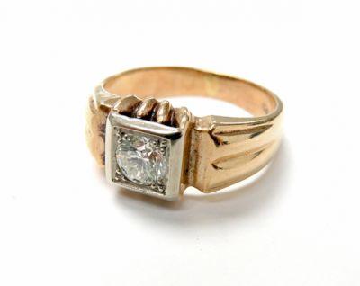 2015 ML Facets/3 Qtr/Art Deco Diamond Solitaire Ring CFA150689 79650