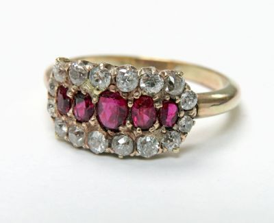 2015 ML Facets/3 Qtr/Edwardian Ruby and Diamond Ring CFA1507112 79687