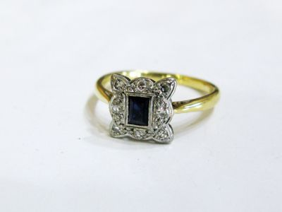 2015 ML Facets/3 Qtr/Edwardian Sapphire and Diamond Ring CFA1306247 71878