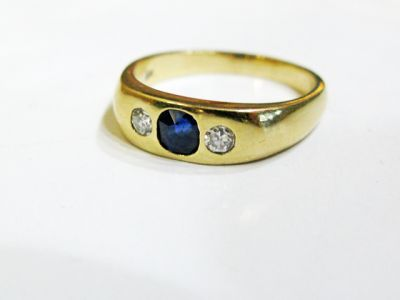 2015 ML Facets/3 Qtr/Edwardian Sapphire and Diamond Ring CFA150895 79981